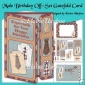 Male Birthday Off-Set Gatefold Card