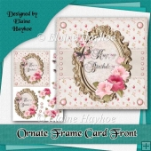 Ornate Birthday Frame Card Front