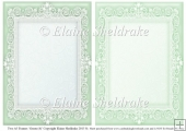 2 x A5 Green (4) Lace Frames for Card Making & Scrapbooking