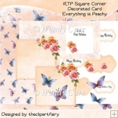 Everything is Peachy Decorated Corner Card(Retiring in August)