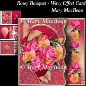 Rosey Bouquet - Wavy Offset Card