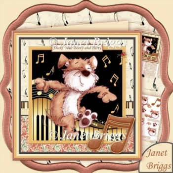 Shake Your Booty & Party 8x8 Decoupage Kit