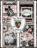 My Heart Belongs to Paris Toppers Set of 4