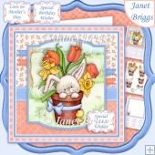 EASTER BUNNY & BIRD 7.5 Decoupage & Insert Mini Kit