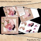 Shabby Chic Vintage Shoes_Bag 8x8 Mini Card Kit