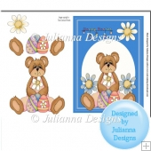 Easter Teddy Card Topper/Front