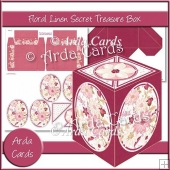 Floral Linen Secret Treasure Box