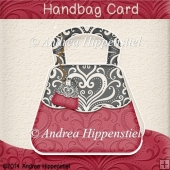 Handbag Card Red