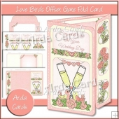 Love Birds Offset Gatefold Card