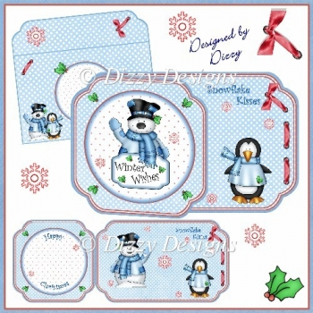 Winter Wishes - Shaped Card Kit