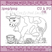 MooRag with Pail of Milk