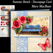 Summer Bench - Decoupage Card