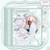 WEDDING DAY AT SUNSET Mint Decoupage Mini Kit
