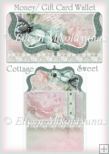 Cottage Sweet Money/Gift Card Clutch Purse Wallet