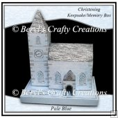 Church Keepsake/Memory Box - Christening - Pale Blue