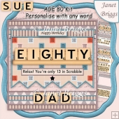80 IN SCRABBLE 7.5 Alphabet Quick Card Kit Create Any Name