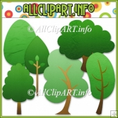 Tree Elements Commercial Use Clip Art