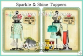 Sparkle and Shine Set of 2 Toppers