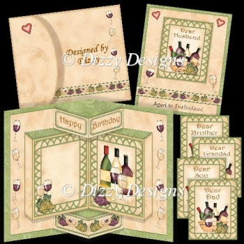 Aged to Perfection Wine Pop Out Card