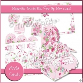 Beautiful Butterflies Pop Up Box Card