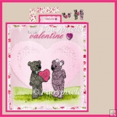 BranniganBear Valentine Stepper Card set