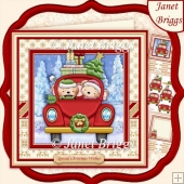 DRIVING HOME FOR CHRISTMAS 8x8 Decoupage & Insert Kit