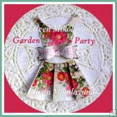 Garden Party Dress and Bow Embellishment Set