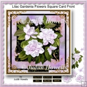 Lilac Gardenia Flowers Square Card Front
