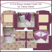 In Full Bloom Floral Notelet Folder Set