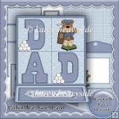 Golfin Bear Easel Card