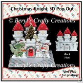 Christmas Knight - 3D Pop Out Card