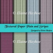 Textured Paper Plain & Stripes