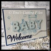 3d Eclipse card template - WELCOME BABY