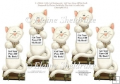 White Cat Bookmarks - Get Your Paws Off My Book