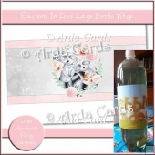 Raccoons In Love Large Bottle Wrap