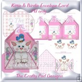 Kittie & Birdie Envelope Card