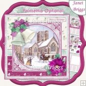 CHRISTMAS BELLS & CHURCH 7.5 Decoupage & Insert Kit
