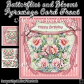 Butterflies and Blooms Pyramage Card Front