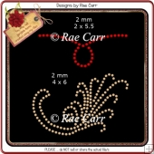 RS813 Swirlies Rhinestone Templates