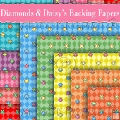 10 Diamonds & Daisy's Backing Papers Download (C188)