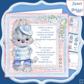 BLUE BUNNY & VERSE 7.5 Decoupage & Insert Kit
