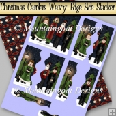 Christmas Carolers Wavy Pyramage Side Stacker