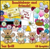 Bumblebear And Friends CU Clipart Set