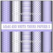 Lilac And White Theme Papers 2