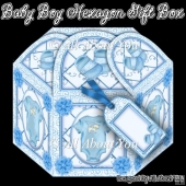 Baby Boy Hexagon Gift Box
