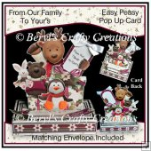 Easy Peasy Pop Up Card - From Our Family to Your's