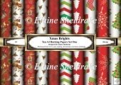 Bright Xmas - Ten A4 Backing Papers - Set One