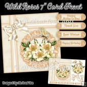 Cream Wild Roses 7 Inch Card Front