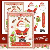 Dear Santa Card Front and Decoupage