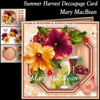 Summer Harvest Decoupage Card